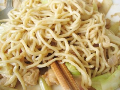 Closeup of Noodles