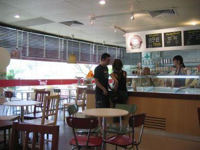 Interior of Island Creamery