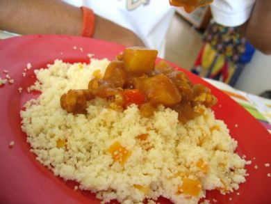 Apricot Couscous with Jap Curry
