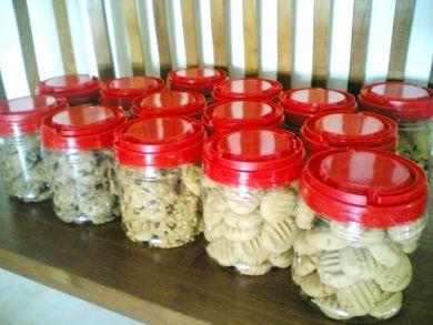 plenty of cookies in bottles