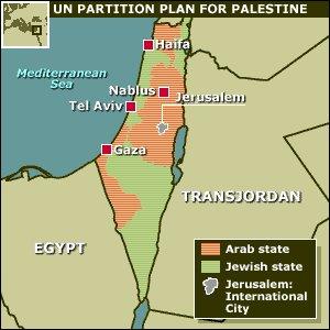 Mapa de la Partición, 1947 - ONU