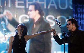 Bono and Andrea Corr in Live 8 concert