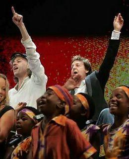 Bob Geldof Paul McCartney