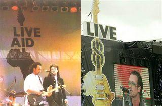 U2 Live Aid and Live 8