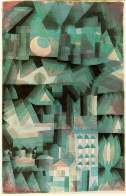 Paul Klee, Dream City - 1921, Watercolor on paper, Private collection