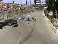 [Mario Dominguez slams into A. J. Allmendinger at the 2005 Molson Indy Toronto]