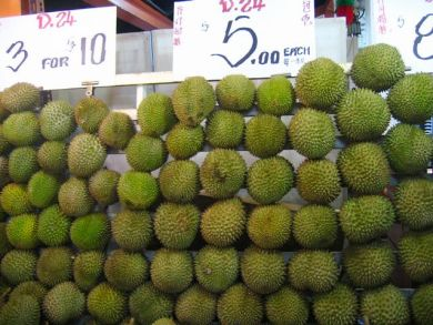 Durians at Toa Payoh