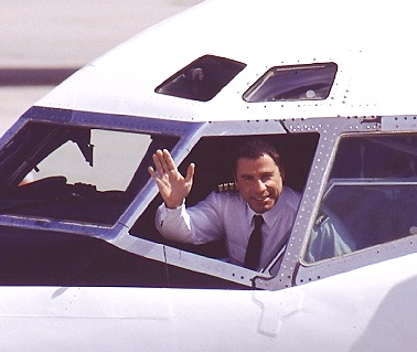 John Travolta in his personal Boeing 707