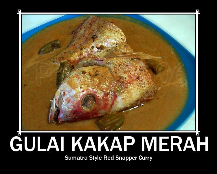 Gulai Kakap Merah - Sumatra Style Red Snapper Curry