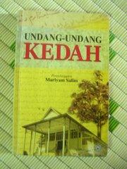 Buku Undang-Undang Kedah sebagai BUKTI rujukkan