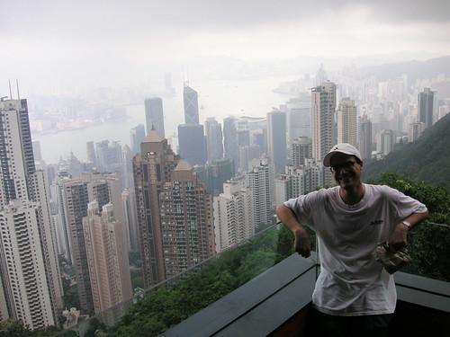 Paul with the Hong Kong Skyline