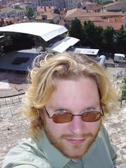 Me, in Vienne's roman amphitheatre