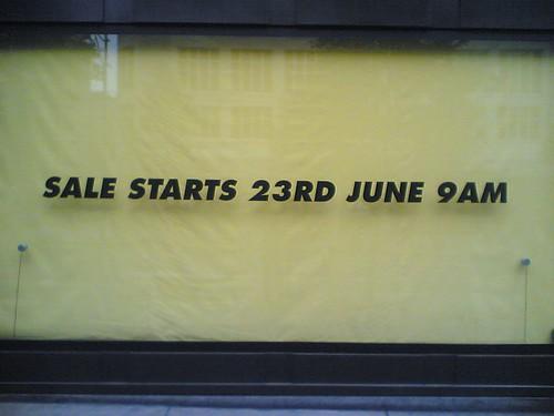 Sale starts 23rd...