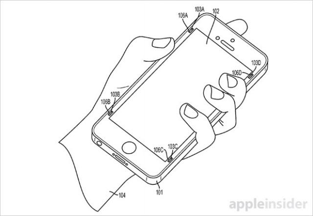 Apple запатентовала механическую систему защиты экрана iPhone