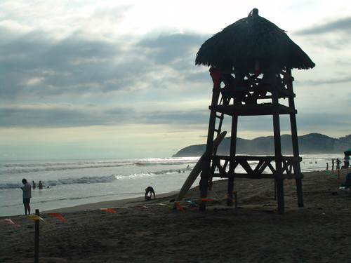 torre en la playa
