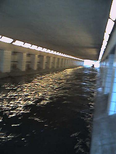 tunel inundado