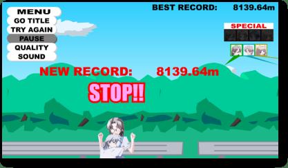 Παιχνίδι nanaca crash - παράδειγμα βαθμολογιάς highscore