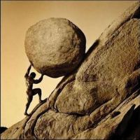"summary of albert camus ""the myth of sisyphus"" reason and meaning nowhere is the essence of the human condition made clearer than in the myth of sisyphus condemned by the gods to roll a rock to the top of a mountain"