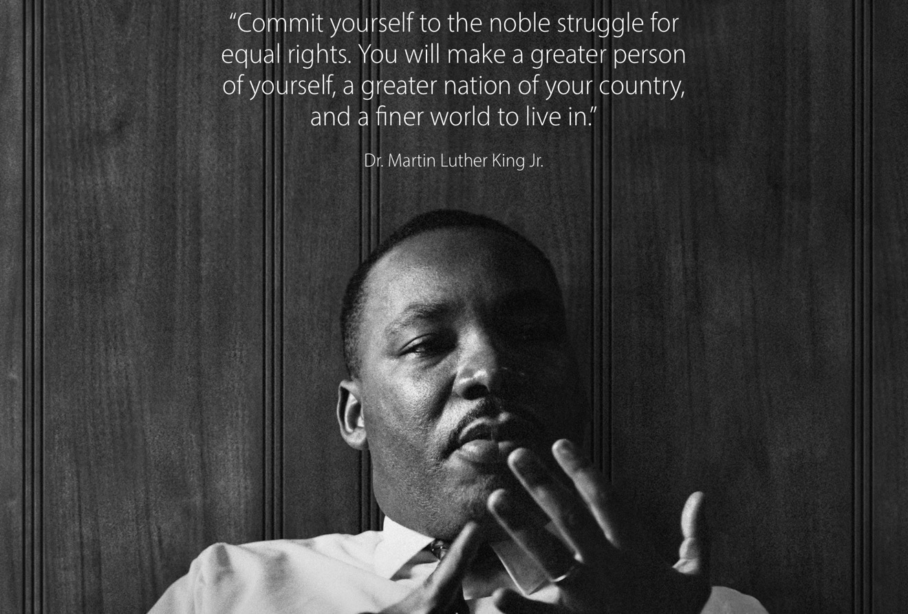 Apple Commemorates Martin Luther King Jr Day With Quote