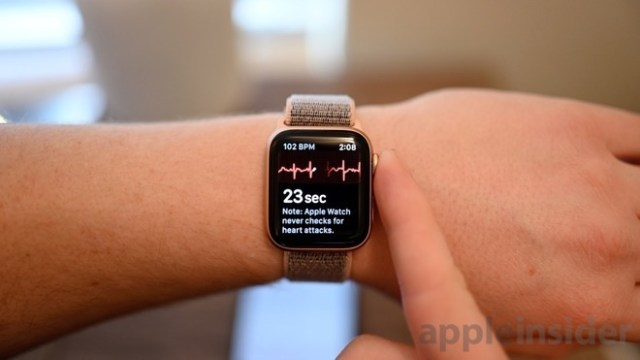 Apple Watch Series 4 heart rate monitoring