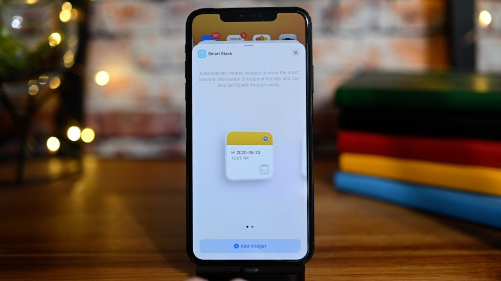 The small Smart Stack widget in iOS 14