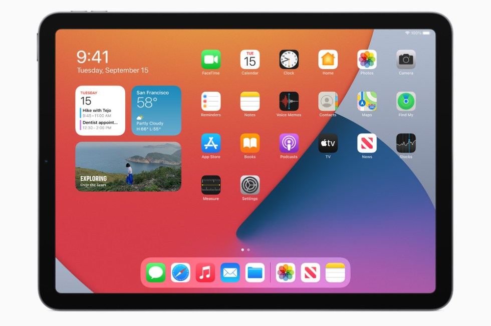 The new 2020 iPad Air continues to have large bezels