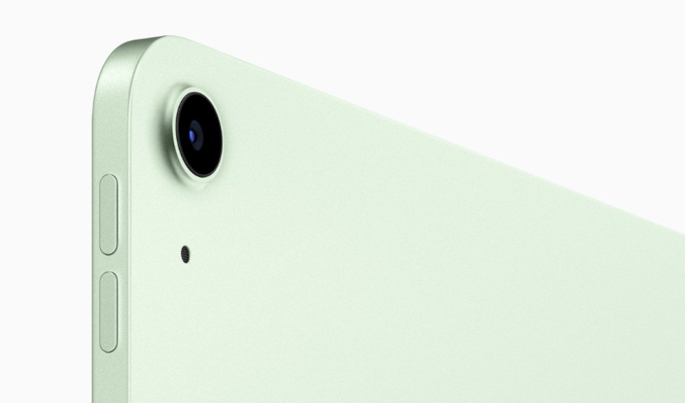 The iPad Air's rear camera has been improved