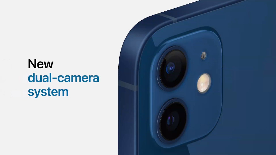 The iPhone 12 retains a dual camera system, but it's improved