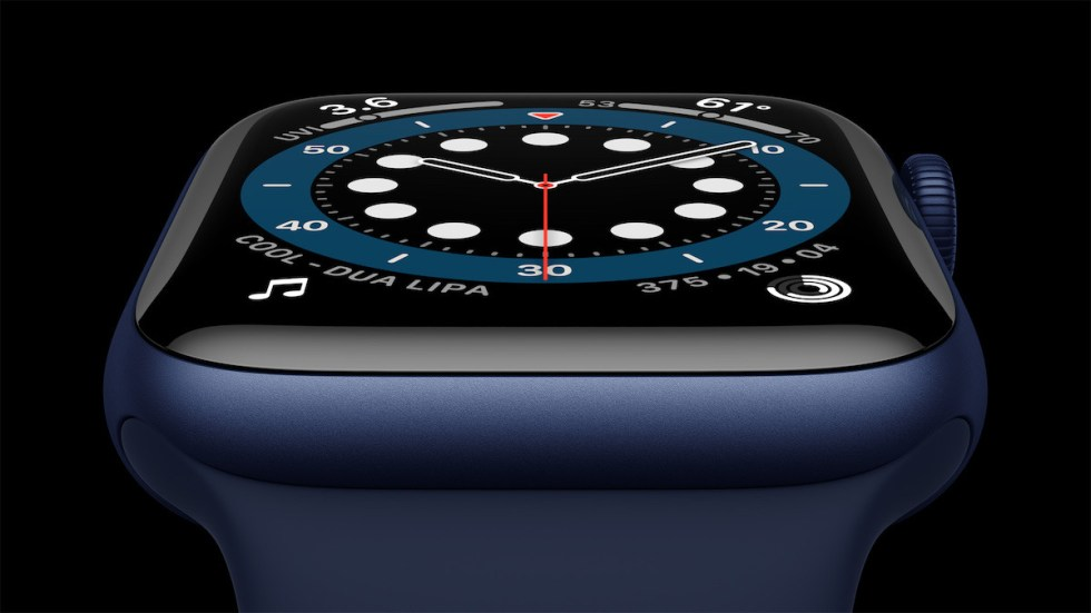 The always-on display is now up to 2.5 times brighter when the wrist is down. Credit: Apple