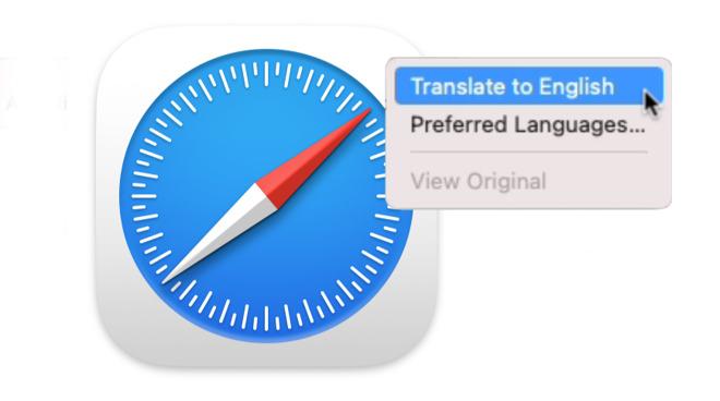 Safari's new translation feature is superb