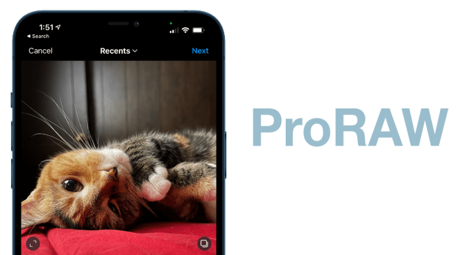 Instagram to gain ProRAW in an update