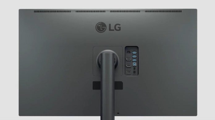 DisplayPort, HDMI, and USB ports for several connection options