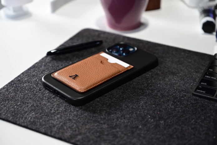 Labodet wallet on Apple's leather iPhone 12 Pro Max case