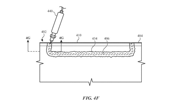 The patent largely covers using inks to hide the join of two-part casings.
