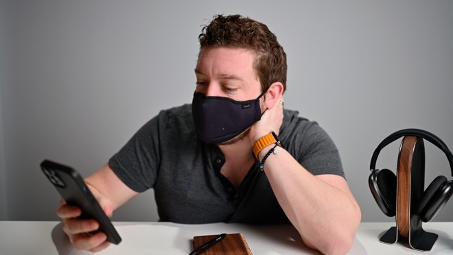 Wearing a mask with iPhone