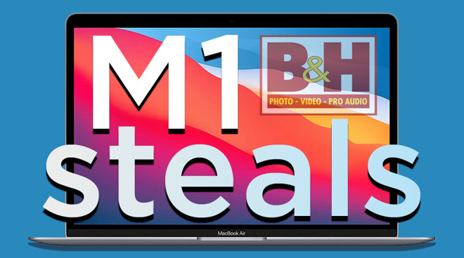 Exclusive MacBook Air M1 deals with BH Photo logo