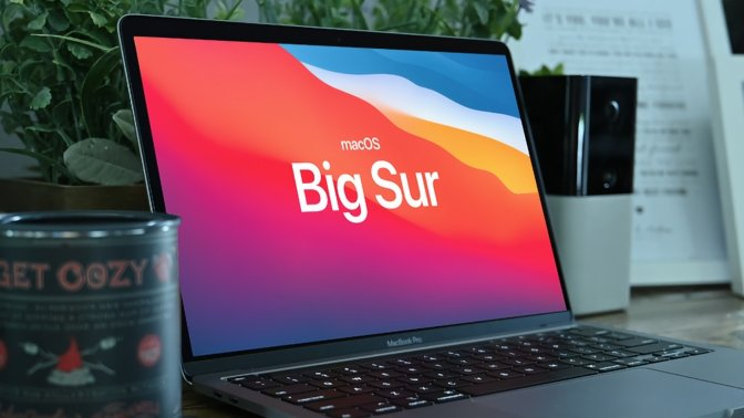 Apple's macOS Big Sur on a MacBook Pro