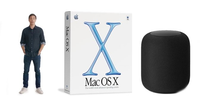 L-R: Justin Long, OS X, and the already much-missed HomePod