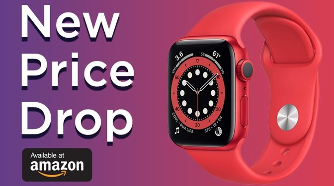 Amazon Apple Watch deal on Series 6 in red