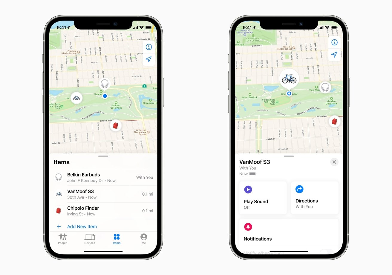 compared apple airtag vs tile pro and