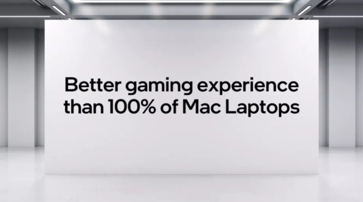 Intel's presentation offered some bold claims against Apple
