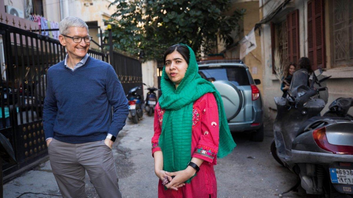 Tim Cook and Malala