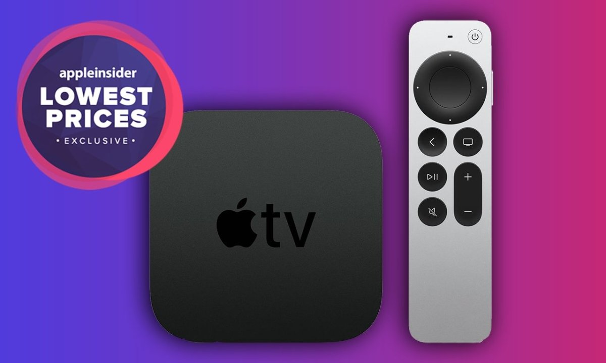 2021 Apple TV with Siri Remote and lowest prices badge
