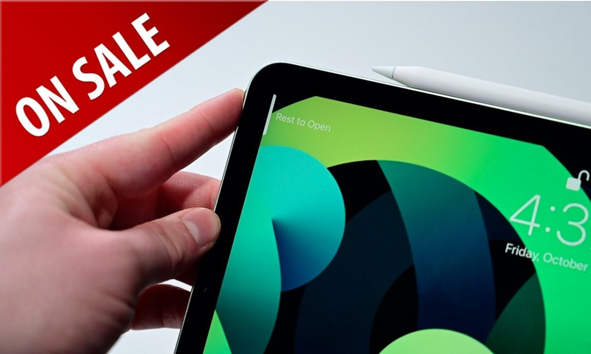 Apple iPad Air in Green with on sale badge
