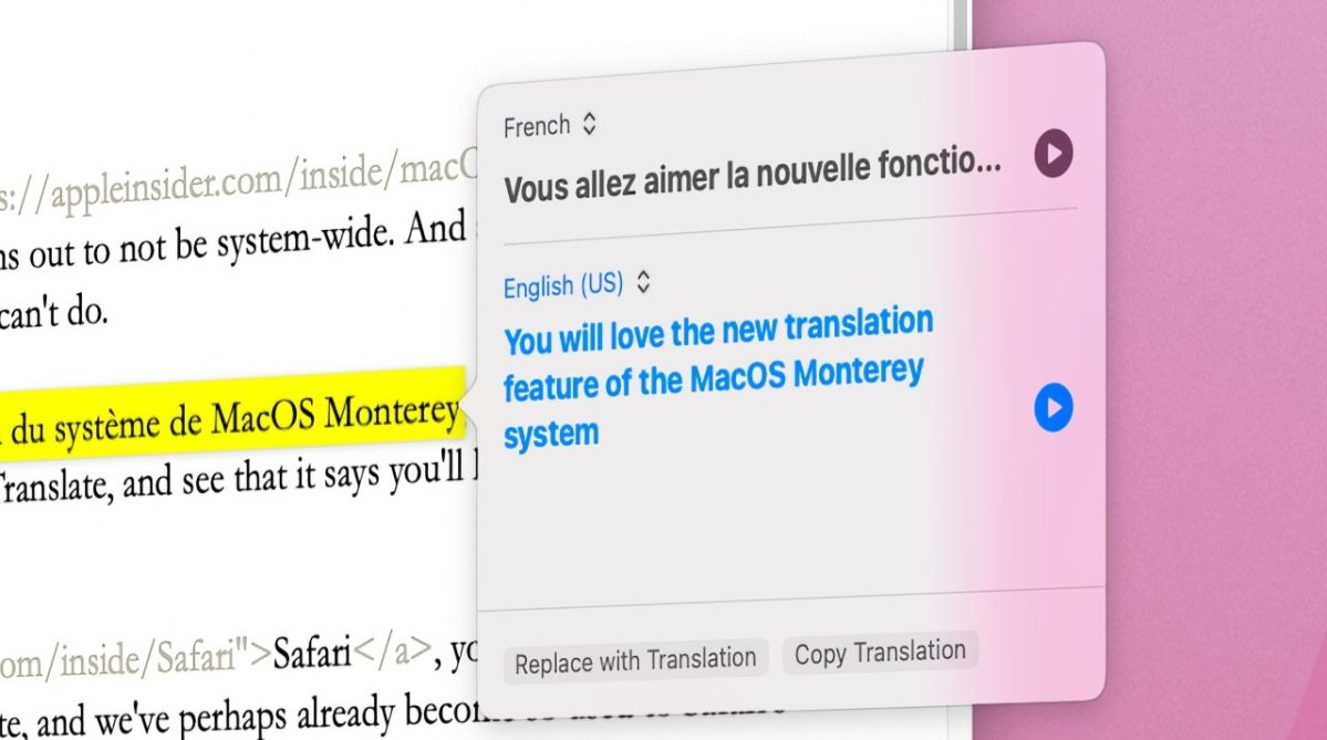 The new system-wide translation is superb.