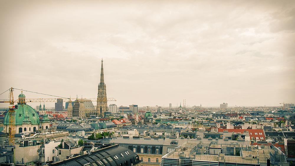 vienna, rooftops, roofs, view, austria, hochhaus, herrengasse