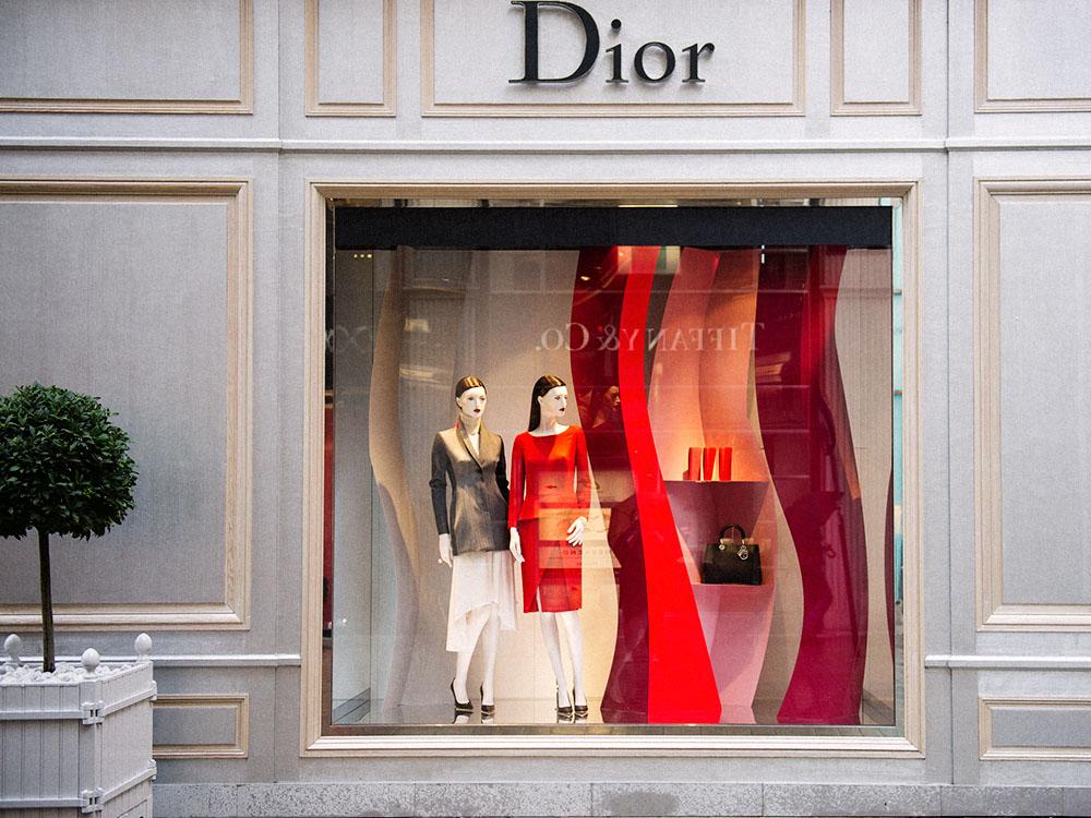 dior, window, display, shopping, vienna, kohlmarkt