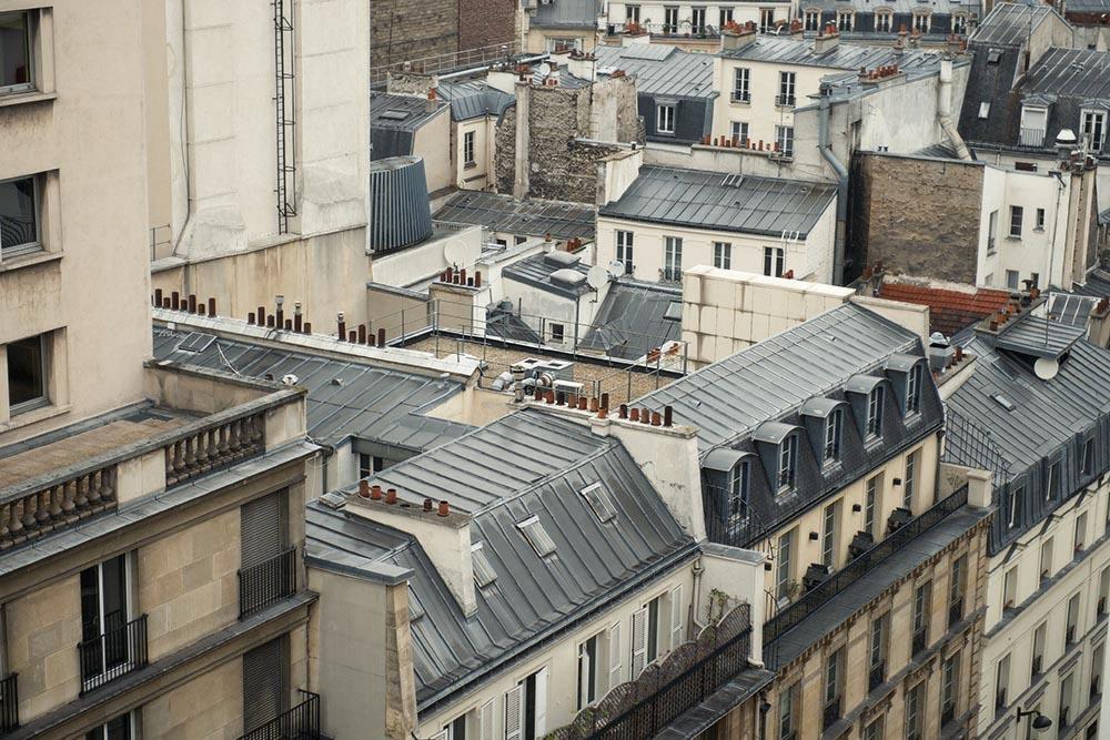 paris, rooftops, tour eiffel, galeries lafayette
