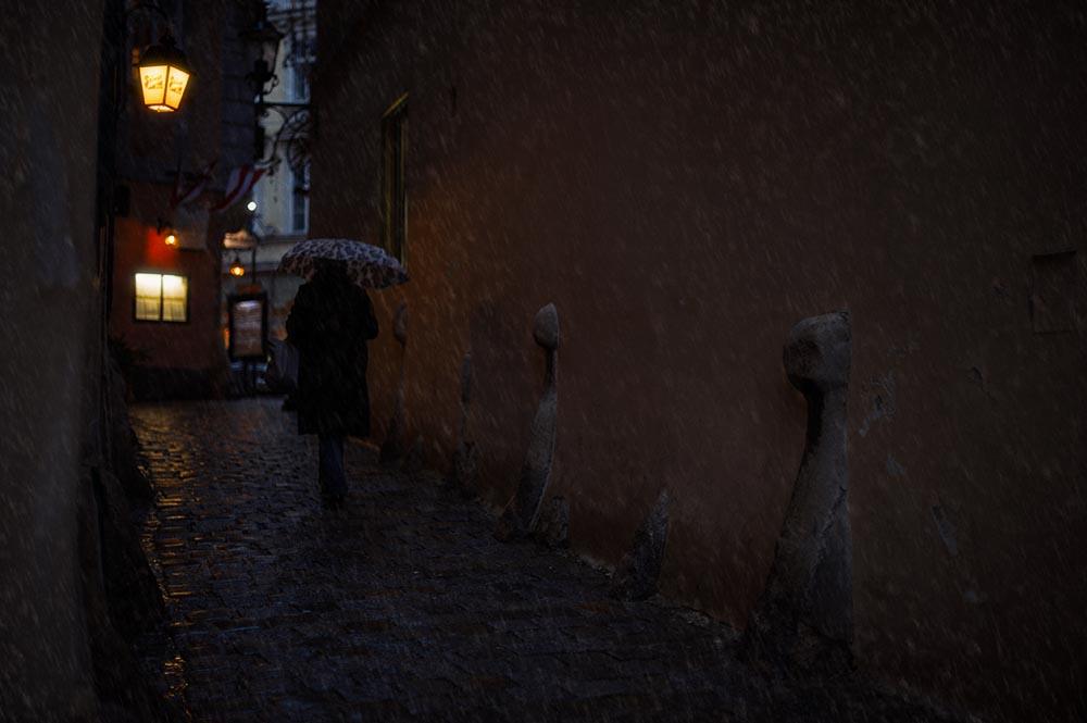 griechengasse, vienna, winter, snow, dark, cold