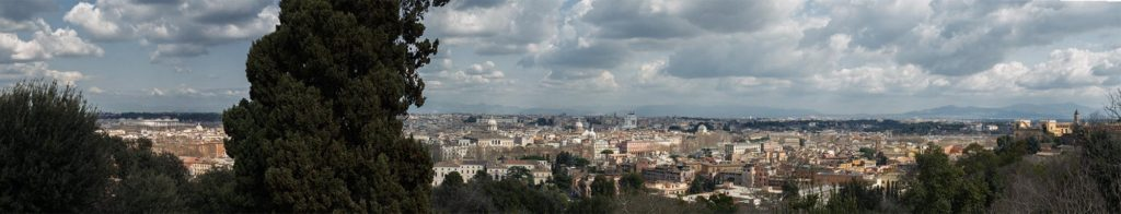 rome, italy, panormama, from above, giancolo